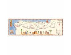 Mapa Mural Medieval Caminos a Santiago