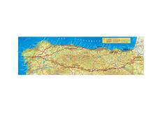 Mapa en relieve Camino de Santiago 46x16 cm