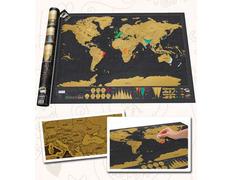 Mapamundi para rascar Scratch Map Deluxe 82x59 cm.