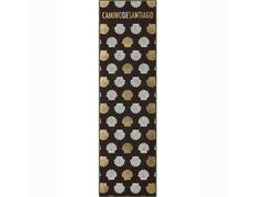 Marca páginas textil Conchas oro Camino de Santiago