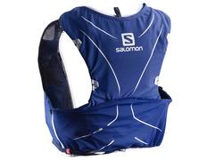 Mochila Salomon Adv Skin 5 Set Azul/Blanco