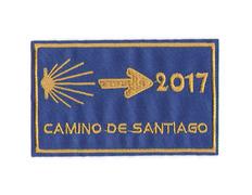 Parche bordado Camino de Santiago 2017