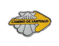 Parche bordado concha con flecha Camino de Santiago
