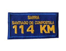 Parche bordado Sarria-Santiago 114 KM