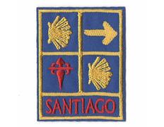 Parche bordado 4 símbolos Camino de Santiago