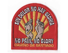 Parche bordado sin dolor no hay gloria Camino de Santiago