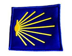 Parche bordado tela Estrella del Camino 7x7 cm.