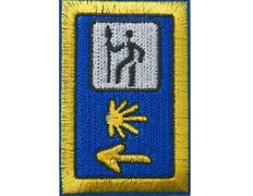 Parche bordado tela triple señal