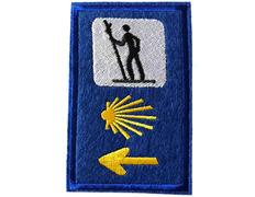 Parche bordado Triple señal Azul