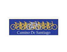 Pegatina Bicicleta Camino de Santiago 13x4,5