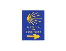 Pegatina Estrella y Flecha Camino de Santiago 6x8