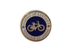 Pin Bicicleta Camino de Santiago redondo Metal