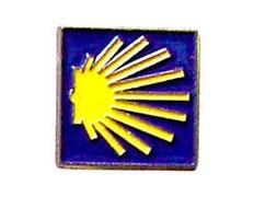 Pin Estrella Amarilla del Camino Metal