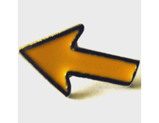 Pin Flecha Camino borde Plateado