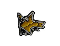 Pin Flecha con bastón Amarilla