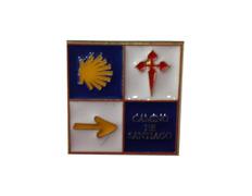 Pin Flecha, Cruz y Estrella Camino de Santiago