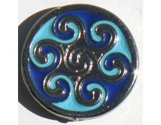 Pin Hexaquel Celta Azul Metal