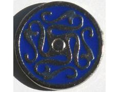 Pin Laberinto Celta Azul Metal