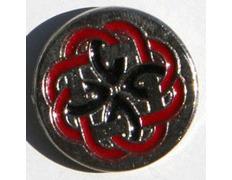 Pin Laberinto Celta Rojo Metal