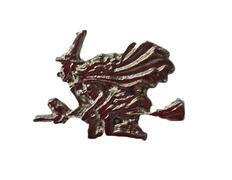 Pin Meiga con escoba de Metal