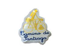 Pin Metacrilato Peregrino en Bicicleta