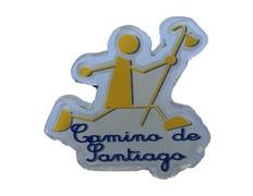 Pin Metacrilato Peregrino Corriendo Camino de Santiago