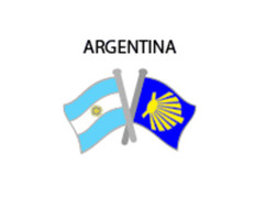 Pin Metal Bandera Argentina Camino Santiago