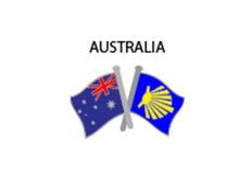 Pin Metal Bandera Australia Camino Santiago
