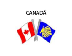 Pin Metal Bandera Canadá Camino Santiago