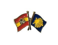 Pin Metal Bandera España Camino Santiago