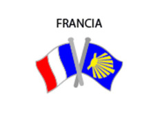Pin Metal Bandera Francia Camino Santiago