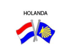 Pin Metal Bandera Holanda Camino Santiago
