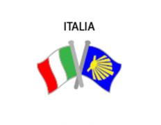 Pin Metal Bandera Italia Camino Santiago