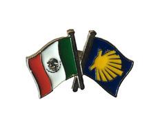 Pin Metal Bandera México Camino Santiago