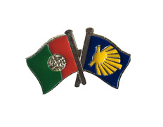 Pin Metal Bandera Portugal Camino Santiago