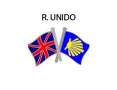 Pin Metal Bandera Reino Unido Camino Santiago