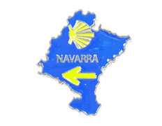 Pin Metal Mapa Navarra
