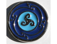 Pin Trisquel Celta Azul Metal