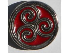 Pin Trisquel Celta Rojo Metal