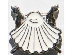 Pin Vieira Blanca Metal
