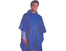 Poncho PVC lateral abierto Azul