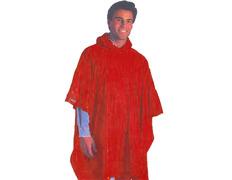 Poncho PVC lateral abierto Rojo
