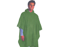 Poncho PVC lateral abierto Verde oscuro