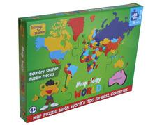 Puzzle del Mundo en Foam 68 piezas 100 paises