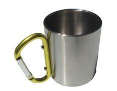 Taza de acero inoxidable Bastick con mosquetón