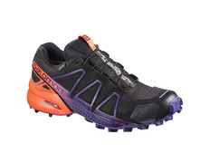 Zapatilla Salomon Speedcross 4 GTX W LTD Negro/Naranja/Violeta