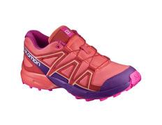 Zapatilla Salomon Speedcross J Coral/Púrpura