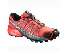Zapatilla Salomon Speedcross 4 GTX W Rojo/Coral/Azul