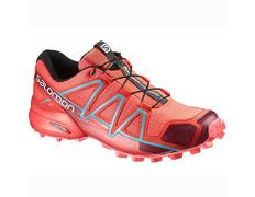 Zapatilla Salomon Speedcross 4 W Rojo/Coral/Azul