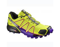 Zapatilla Salomon Speedcross 4 W Verde lima/Violeta/Negro